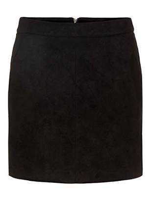 2f77ad9ac Vero Moda NOS Women's Vmdonnadina Faux Suede Short Skirt Noos Black, Large
