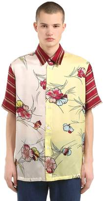Antonio Marras Oversize Printed Silk Shirt