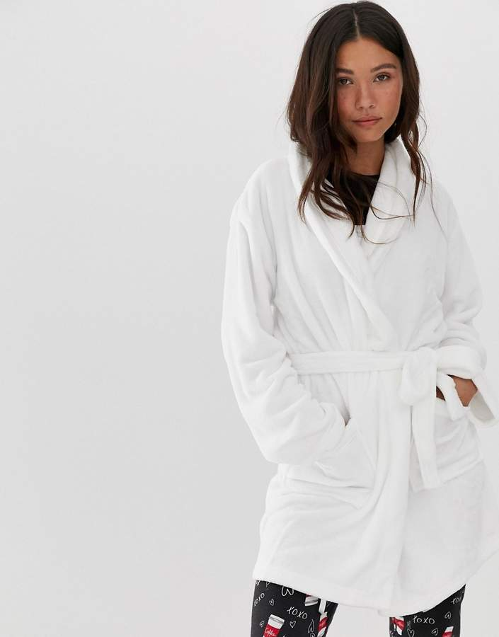 9807b33853 Loungeable heart print dressing gown