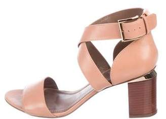 Tory Burch Leather Round-Toe Sandals