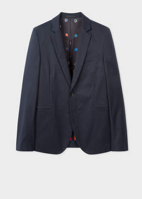 Paul Smith Men's Slim-Fit Navy Buggy-Lined Blazer