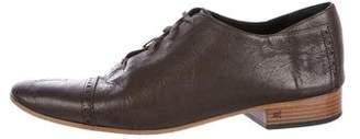 Balenciaga Cap-Toe Leather Oxfords