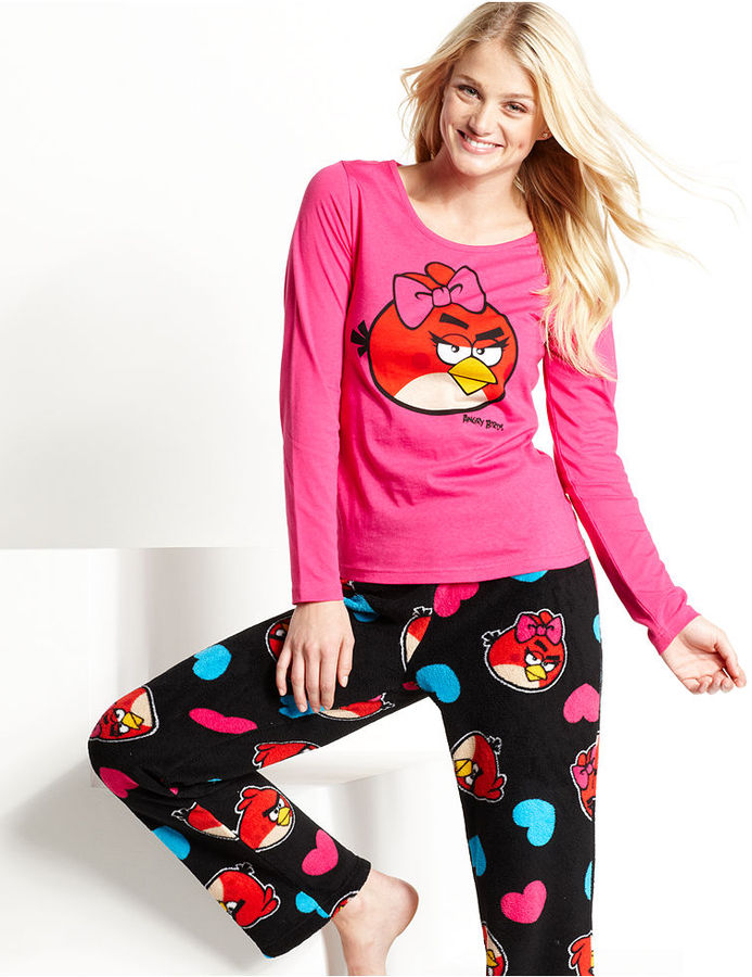 Briefly Stated Angry Birds Top and Pajama Pants Set