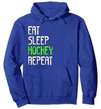 Eat Sleep Hockey Repeat Hoodie Funny Sport Game Gift