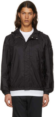 Prada Black Nylon Hooded Zip Jacket