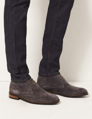 Marks and Spencer Leather Lace-up Chukka Boots