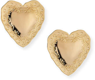 Fallon Heart Statement Earrings