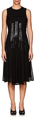 Noir Kei Ninomiya Women's Lace-Front Georgette Sleeveless Dress