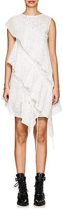 J KOO Women's Eyelet Ruffled Tiered Dress - White