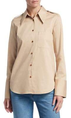 Khaite Diana Cotton Solid Shirt