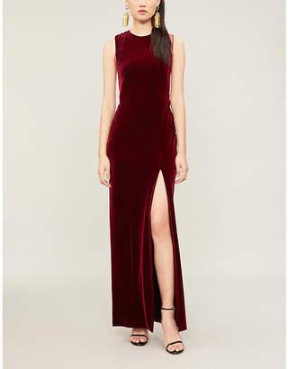 3402b6ad126 at Selfridges · Galvan Crescent thigh-split velvet dress
