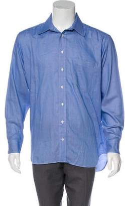 Burberry Point Collar Button-Up Shirt