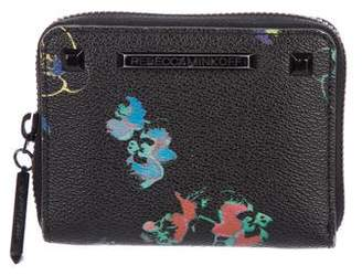 Rebecca Minkoff Floral Leather Compact Wallet