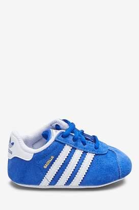 adidas Boys Blue Gazelle Crib Trainers - Blue