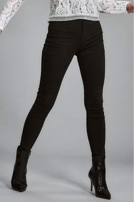 Lipsy Selena High Rise Skinny Short Length Jeans - 8 Petite - Black