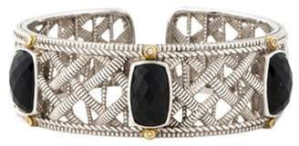 Judith Ripka Onyx & Diamond Cuff silver Onyx & Diamond Cuff