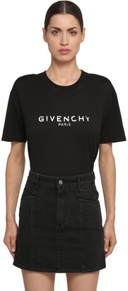 Givenchy Logo Print Cotton Jersey T-Shirt