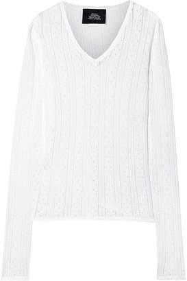 Marc Jacobs Pointelle-knit Top - White