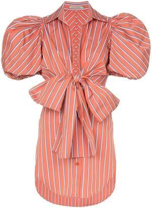 Silvia Tcherassi Primula striped puff sleeve blouse