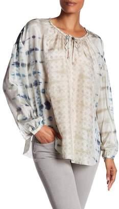 Go Silk go \u003E by GoSilk Oversized Silk Peasant Tunic