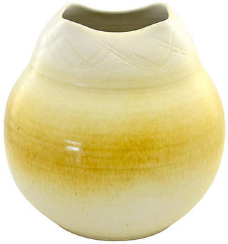 One Kings Lane Vintage Yellow Ombre Studio Pottery Urn