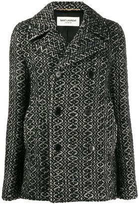 Saint Laurent double breasted knitted coat