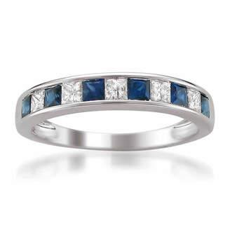 MODERN BRIDE Modern Bride Gemstone Womens 3/8 CT. T.W. Blue Sapphire 14K Gold Wedding Band