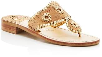 Jack Rogers Napa Valley Cork Thong Sandals $118 thestylecure.com