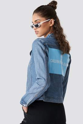 Calvin Klein Clean Line Trucker Lyon Blue With Patch