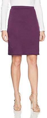 Star Vixen Women's Petite Knee Length Classic Stretch Pencil Skirt,PXL