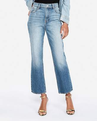 Express High Waisted Original Cropped Straight Jeans