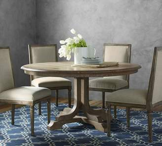Pottery Barn Linden Pedestal Dining Table, Belgian Gray