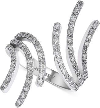 Effy Diamond Open Finger Ring (7/8 ct. t.w.) in 14k White Gold