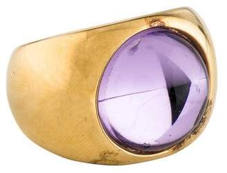 Lalique Crystal Cabochon Ring