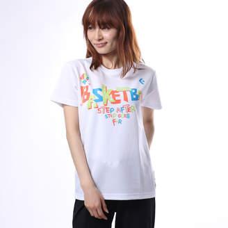 Converse (コンバース) - コンバース CONVERSE レディース バスケットボール 半袖Tシャツ ウィメンズプリントTシャツ CB371305