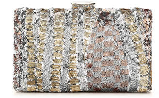 Women's Abstract Clutch -Silver Metallic $45 thestylecure.com