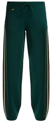Bella Freud Race Track Wool Track Pants - Womens - Green