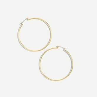 J.Crew Antique-gold hoop earrings