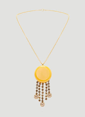 Marni Resin and Crystal Drop Necklace in Gold