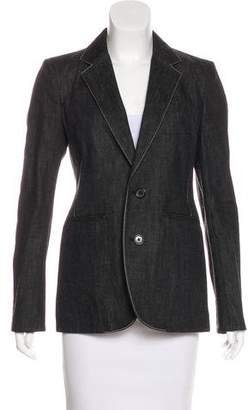Ralph Lauren Purple Label Denim Notch-Lapel Blazer