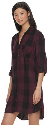 Rock & Republic Women's Plaid High-Low Shirtdress
