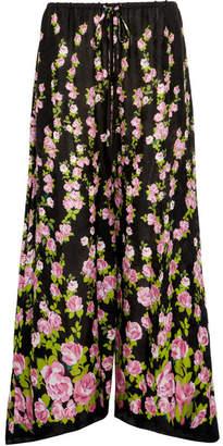 Gucci Printed Jacquard Wide-leg Pants - Pink