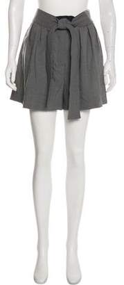 Alexander McQueen High-Rise Pleated Shorts