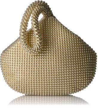 Jessica McClintock Staci Mesh Wristlet Pouch Evening Bag