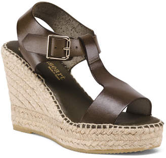 Made In Spain H Band Leather Espadrilles