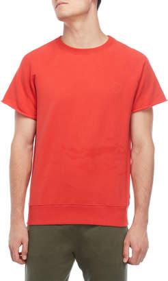 Ron Dorff Red Short Sleeve Fleece Sweatshirt