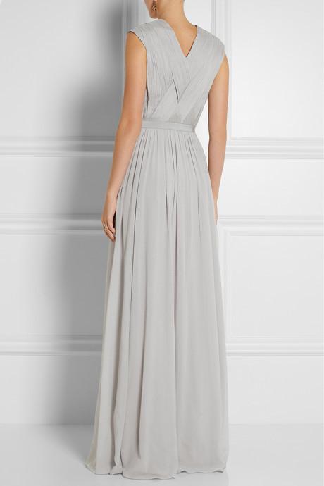 Matthew Williamson Embellished stretch-silk georgette gown