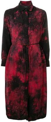 Amiri tie-dye print shirt dress