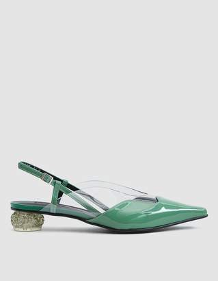 YUUL YIE Dewy Patent Slingback in Jade