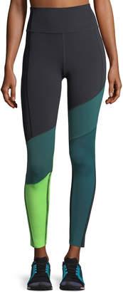 Under Armour Mirror BreatheLux Asymmetric High-Rise Performance Leggings